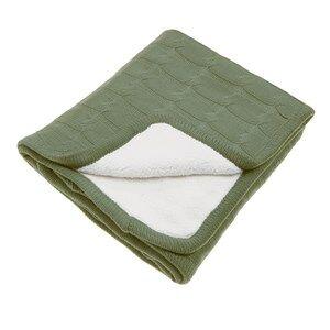 Vinter & Bloom Unisex Textile Green Teddy Blanket Forest Green