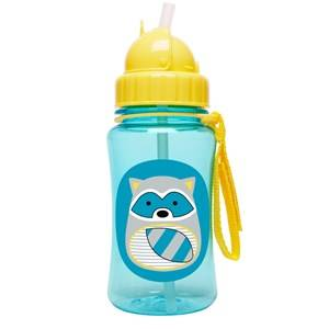 Skip Hop Unisex Flasks and water bottles Blue Zoo Straw Bottle Raccoon