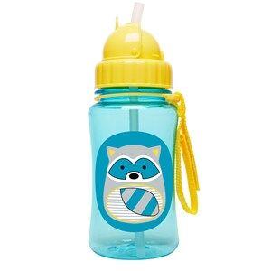 Skip Hop Unisex Flasks and water bottles Blue Zoo Straw Bottle Raccoon