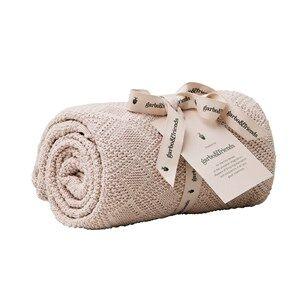garbo&friends; Girls Textile Ollie Pink Cotton Blanket