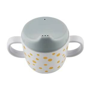 Done by Deer Unisex Norway Assort Tableware Gold 2-Handle Spout Cup Happy Dots Gold/Grey