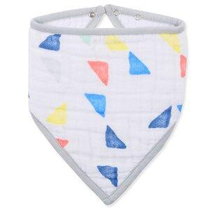 Aden + Anais Unisex Baby feeding White Triangles Classic Bandana Bib