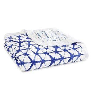 Image of Aden + Anais Unisex Textile Navy Indigo Shibori Silky Soft Dream Blanket