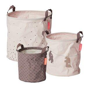 Done by Deer Girls Norway Assort Storage Pink 3 Piece Soft Storage Baskets Powder