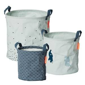 Done by Deer Boys Norway Assort Storage Blue 3 Piece Soft Storage Baskets Blue