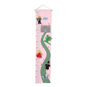 oskar&ellen; Unisex Home accessories Pink Castle Height Chart Pink