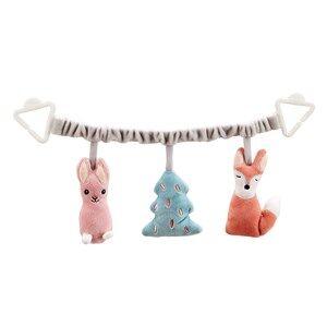 Kids Concept Unisex Stroller accessories Multi Stroller Soft Plush Chain Toy