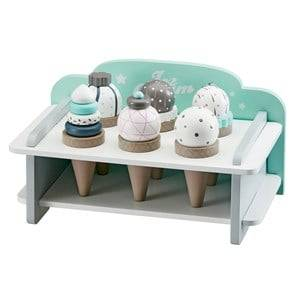 Kids Concept Unisex Role play Multi Kids Wooden Ice Cream Bar Set With Stand