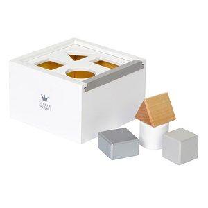 BamBam Unisex Norway Assort Construction White Wooden Block Box