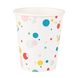 My Little Day Unisex Tableware Multi 8 Paper Cups - Multicolored Bubbles