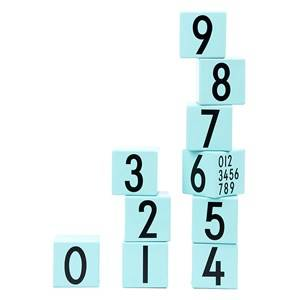 Design Letters Unisex Puzzles and games Multi Wooden Cubes Turquoise