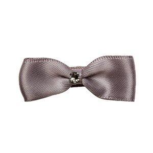 Prinsessefin Girls Norway Assort Hair accessories Silver Philippa Silk Bow Hair Clip Silver