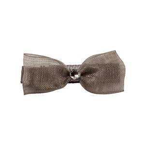 Prinsessefin Girls Norway Assort Hair accessories Silver Caroline Organza Baby Hair Clip Bow Silver