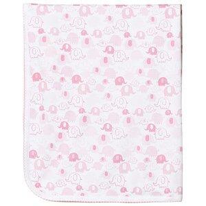 Image of Kissy Kissy Girls Textile Blue Pink Elephant Print Blanket