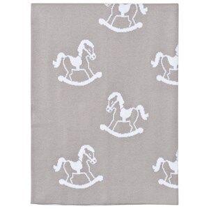 Image of Kissy Kissy Unisex Textile Grey Grey Rocking Horse Knit Blanket