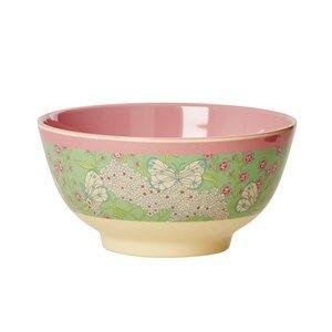 Rice Unisex Norway Assort Tableware Green Melamine Bowl Butterfly Print
