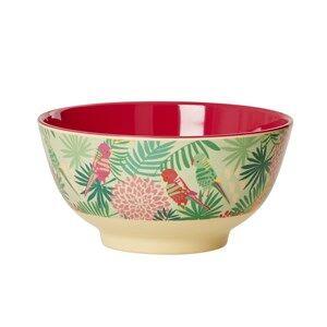Rice Unisex Norway Assort Tableware Green Melamine Bowl Tropical Print