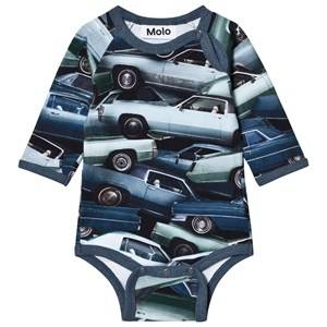Molo Boys Onesies Blue Field Baby Body Stacked Cars