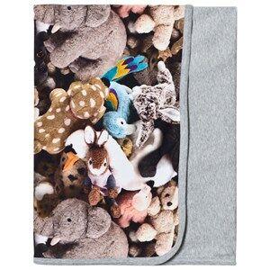 Image of Molo Unisex Textile Grey Neala Blanket Friends Forever