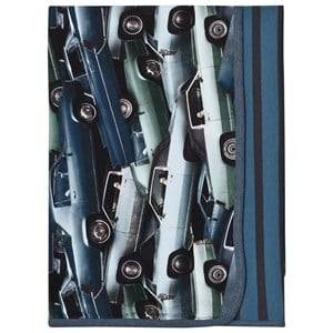 Molo Unisex Textile Blue Niles Blanket Stacked Cars