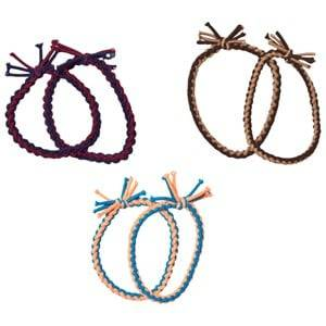 Molo Unisex Hair accessories Beige 6-Pack Twist Elastics Mixed