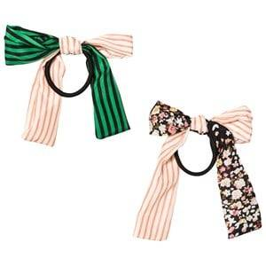Image of Molo Unisex Hair accessories Beige 2-Pack Woven Bow Hair Bands Mix