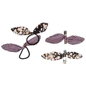 Image of Molo Unisex Hair accessories Beige 4-Pack Tie Bow Hair Bands and Clips Bitty Blossom