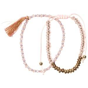 Image of Molo Unisex Jewellery and watches Beige 2-Pack Delicate Bracelets Cameo/Rose