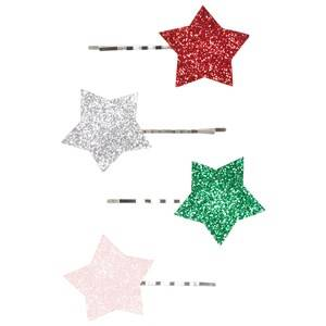 Image of Molo Unisex Hair accessories Silver 4-Pack Star Hair Clips Silver