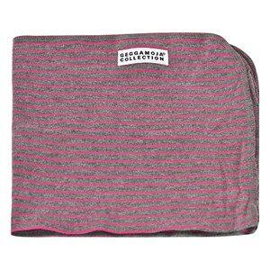 Geggamoja Girl Textiles Pink Cuddly Blanket Classic Dark Grey/Cerise