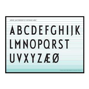 Design Letters Unisex Home accessories Multi ABC Poster