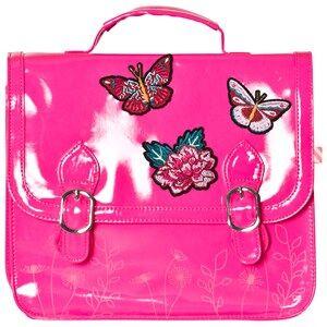 Billieblush Girls Bags Pink Butterfly Applique Patent Satchel Hot Pink