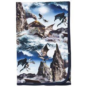 Image of Molo Unisex Textile Blue Niles Blanket Dragon Island