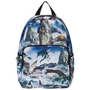 Molo Unisex Bags Blue Big Backpack Dragon Island