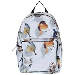 Molo Unisex Bags Blue Big Backpack Bouncing Birds