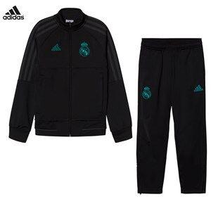 Real Madrid Boys Sporting replica Black Real Madrid ´17 Junior Training Tracksuit