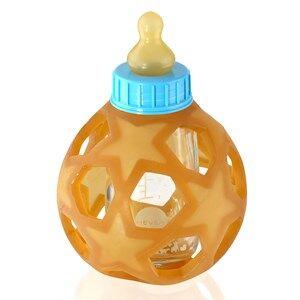 Hevea Unisex Baby feeding Blue Hevea Glass Bottle Blue Cap 0+ Months