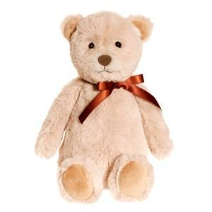 Teddykompaniet Unisex Soft toys Beige August Teddy Small