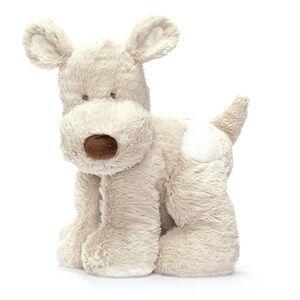 Teddykompaniet Unisex Soft toys Grey Teddy Cream Dog Large Grey