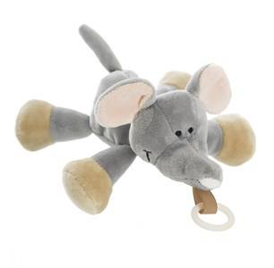 Teddykompaniet Unisex Baby feeding Grey Diinglisar Wild Buddy Elephant