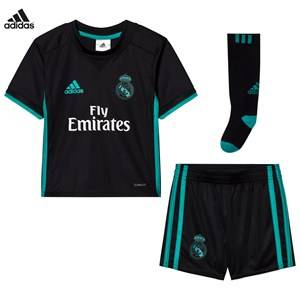 Real Madrid Boys Sporting replica Black Real Madrid ´17 Kids Away Set