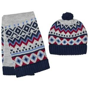 Mayoral Boys Winter sets Grey Grey, Blue and Red Hat and Scarf Set