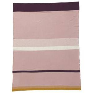 ferm LIVING Girls Textile Pink Little Stripy Blanket - Rose