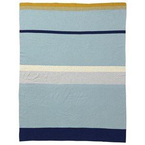 Image of ferm LIVING Unisex Textile Blue Little Stripy Blanket - Blue