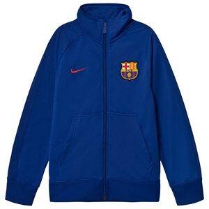 Barcelona FC Unisex Sporting replica Blue Junior FC Barcelona Crew Jacket