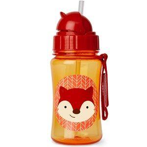 Skip Hop Unisex Flasks and water bottles Red Zoo Straw Bottle Fox