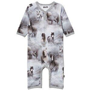 Molo Girls Onesies Grey Fiona Baby One-Piece Pony