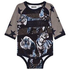 Molo Boys Onesies Blue Floyd Baby Body Blue Tigers