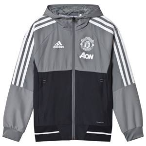 Image of United Manchester United Boys Sporting replica Grey Manchester United ´17 Junior Pre Match Jacket