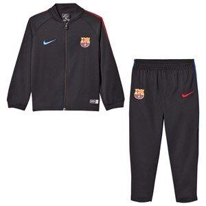 Barcelona FC Unisex Sporting replica Black Barcelona FC Kids Dry Squad Tracksuit